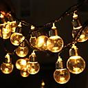 baratos Bases & Conectores para Lâmpadas-5m Cordões de Luzes 20 LEDs Branco Quente Decorativa 220-240 V 1conjunto