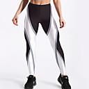 baratos Roupas para Corrida, Ioga & Fitness-Mulheres Básico Legging - Geométrica Cintura Média