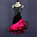 preiswerte Kleidung für Lateinamerikanischen Tanz-Latein-Tanz Kleider Damen Training Elasthan / Tüll Kristalle / Strass Ärmellos Hoch Kleid