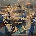 cheap Artificial Flower-Window Film & Stickers Decoration Christmas Holiday PVC(PolyVinyl Chloride) Window Sticker
