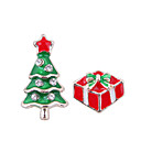 cheap Earrings-Women's Mismatched Stud Earrings - Christmas Tree European, Fashion, Cute Red For Christmas Daily