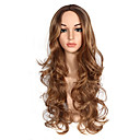 cheap Synthetic Capless Wigs-Synthetic Wig / Ombre Body Wave / Natural Wave Style Middle Part Capless Wig Blonde Strawberry Blonde / Light Blonde Synthetic Hair 26-28 inch Women's Party / Classic / Synthetic Blonde / Brown Wig
