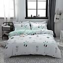 preiswerte Karikatur-Duvet-Abdeckungen-Bettbezug-Sets Zeitgenössisch Polyester / Baumwolle Reaktivdruck 4 StückBedding Sets / 300 / 4-teilig (1 Bettbezug, 1 Bettlaken, 2 Kissenbezüge)