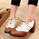 halpa Naisten oxford-kengät-Naisten Comfort-kengät PU Kesä Oxford-kengät Block Heel Musta / Ruskea / Päivittäin