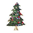 olcso Vallásos ékszerek-Női Kocka cirkónia Klasszikus Melltűk - Mikulás ruhák, Karácsonyfa Klasszikus, Rajzfilmfigura, aranyos stílus Bross Zöld Kompatibilitás Karácsony / Napi