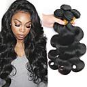 tanie Dopinki w naturalnych kolorach-3 zestawy Włosy brazylijskie Body wave 8A Włosy naturalne Nieprzetworzone włosy naturalne Nakrycie głowy Doczepy Pakiet włosów 8-28 in Natutalne Kolor naturalny Ludzkie włosy wyplata Tkany maszynowo