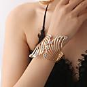abordables Sandales pour Femme-Manchettes Bracelets Femme Rétro Zircon Strass dames Branché Mode Elégant Bracelet Bijoux Dorée pour Cérémonie Soirée