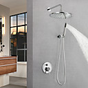 cheap Shower Heads-Shower Faucet / Bathroom Sink Faucet - Contemporary Chrome Wall Mounted Brass Valve