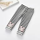 זול מכנסיים וטייץ לבנות-מכנסיים פסים בנות ילדים
