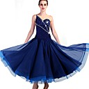 preiswerte Tanzkleidung für Balltänze-Für den Ballsaal Kleider Damen Leistung Elasthan / Organza Kristalle / Strass Ärmellos Kleid