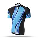 baratos Camisas Para Ciclismo-XINTOWN Homens Manga Curta Camisa para Ciclismo - Black / azul Moto Blusas, Respirável Secagem Rápida Redutor de Suor Terylene / Com Stretch