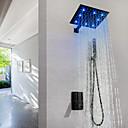 olcso Zuhany csaptelepek-zuhany csaptelep / fürdőszoba mosdó csaptelep - kortárs festés fali sárgaréz szelep vezetett