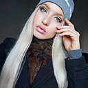 billige Syntetiske blondeparykker-Syntetisk Lace Front Parykker Lige Stil Mellemdel Blonde Front Paryk Hvid Platin Blond Syntetisk hår 22-26 inch Dame Blød / Varme resistent / Dame Hvid Paryk Lang Naturlig paryk