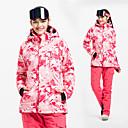 povoljno Skijaška i snowboard odjeća-Vector Žene Skijaška jakna i hlače Vjetronepropusnost Toplo Síszemüvegek Skijanje Camping & planinarenje Snowboarding POLY Hlače Snježni prsluk Majice Skijaška odjeća / Zima