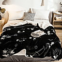cheap Slipcovers-Bed Blankets, Geometric Cotton / Polyester Thicken Blankets