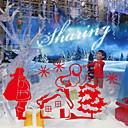 abordables Stickers de Ventana-Ventana de película y pegatinas Decoración Navidad Vacaciones CLORURO DE POLIVINILO Película para Ventana / Adhesivo para Ventana