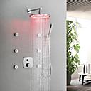 povoljno Slavine za tuš-Slavina za tuš / Kupaonica Sudoper pipa - Suvremena Chrome Zidne slavine Brass ventila Bath Shower Mixer Taps