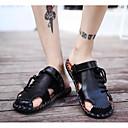 halpa Miesten sandaalit-Miesten Comfort-kengät Nahka Kesä Sandaalit Musta / Vaalean ruskea / Tumman ruskea
