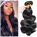 billige Møbelbetræk-3 Bundler Peruviansk hår Bølget 8A Menneskehår Udvidelse Bundle Hair Én Pack Solution 8-28 inch Naturlig Naturlig Farve Menneskehår Vævninger Silkeagtig Glat Bedste kvalitet Menneskehår Extensions
