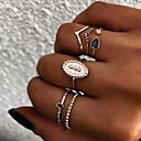 ราคาถูก สร้อยคอ-สำหรับผู้หญิง โบราณ แหวนครึ่งนิ้ว ชุดหูฟัง แหวนหลายนิ้ว เรซิน โลหะผสม ป้องกันแดด สุภาพสตรี วินเทจ Punk โบโฮ แหวนแฟชั่น เครื่องประดับ สีทอง / สีเงิน สำหรับ ของขวัญ ทุกวัน Street คลับ บาร์ 8 6 ชิ้น