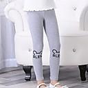 tanie Spodnie i getry-Dzieci Dla dziewczynek Podstawowy Geometric Shape Bawełna / Spandeks Getry Jasnoszary 100