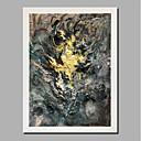 abordables Cuadros Abstractos-Pintura al óleo pintada a colgar Pintada a mano - Abstracto Paisaje Contemporáneo Modern Incluir marco interior / Lienzo enrollado / Lona ajustada
