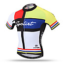 cheap Cycling Jersey & Shorts / Pants Sets-XINTOWN Men's Short Sleeve Cycling Jersey - Yellow Bike Jersey Top Breathable Quick Dry Back Pocket Sports Terylene Mountain Bike MTB Road Bike Cycling Clothing Apparel / Stretchy / Sweat-wicking