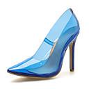 ieftine Tocuri de Damă-Pentru femei Pantofi Pumps PU Primăvara & toamnă minimalism Tocuri Toc Stilat Vârf ascuțit Albastru / Migdală
