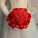 economico Bouquet sposa-Bouquet sposa Bouquet Matrimonio / Ricevimento di matrimonio Pietra dura e cristallo / Seta 11-20 cm