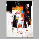 preiswerte Abstrakte Gemälde-Hang-Ölgemälde Handgemalte - Abstrakt Modern Fügen Innenrahmen / Gestreckte Leinwand