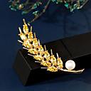 povoljno Moderni broševi-Žene Slatkovodni biser Broševi Klasičan Šiljak dame Luksuz Korejski Pozlaćeni Austrijski kristal Broš Jewelry Obala Za Ulica