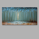 baratos Pinturas a Óleo-Pintura a Óleo Pintados à mão - Abstrato / Paisagem Contemprâneo Incluir moldura interna / Lona esticada