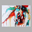 זול ציורים מופשטים-ציור שמן צבוע-Hang מצויר ביד - מופשט מודרני ללא מסגרת פנימית / בד מגולגל