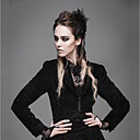 cheap Historical & Vintage Costumes-Cosplay Gothic Steampunk Costume Women's Masquerade Tuxedo Black Vintage Cosplay Polyster Long Sleeve Bishop Sleeve