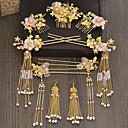 povoljno Komplet nakita-Žene Crvena Kosa Palice Vintage Style Gypsophila Etnikai Zlatno Naušnice Jewelry Zlato Za Vjenčanje Party 1set