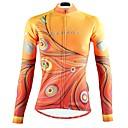 cheap Cycling Jackets-ILPALADINO Women's Long Sleeve Cycling Jersey - Yellow Fashion Bike Top Ultraviolet Resistant Sports Winter Elastane Mountain Bike MTB Road Bike Cycling Clothing Apparel
