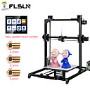 cheap 3D Printers-Flsun-C5 DIY 3D Printer KIT Large Printing Size 300*300*420mm Dual Extruder Touch Screen Auto Level Heated Bed