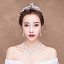 cheap Party Headpieces-Black Swan Gothic Lolita 1950s Elegant Head Jewelry Tiaras Bridal Jewelry Sets Forehead Crown For Party Evening Prom Wedding Party Women's Girls' Crystal Silver Costume Jewelry