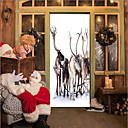 cheap Artificial Flower-Door Stickers - 3D Wall Stickers Christmas Decorations / Holiday Indoor / Outdoor