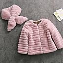 olcso Lány dzsekik és kabátok-Gyerekek / Kisgyermek Lány Alap Egyszínű Hosszú ujj Műszőrme Zakó és dzseki Arcpír rózsaszín