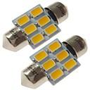 baratos Luzes de Interior para Carros-SENCART 2pcs 31mm Carro Lâmpadas 3 W SMD 5730 180 lm 6 LED Iluminação interior / luzes exteriores Para