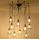 tanie Żyrandole-10 świateł Przemysłowy Żyrandol Downlight Malowane wykończenia Metal Lina, Kreatywne, Rozszerzony 110-120V / 220-240V