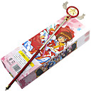 baratos Acessórios Cosplay Anime-Mais Acessórios Inspirado por Cardcaptor Sakura Sakura Kinomoto Anime Acessórios para Cosplay Vara Liga Trajes da Noite das Bruxas