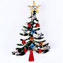 billige Religiøse Smykker-Dame Brocher - Rhinsten Juletræ Damer, Simple Broche Smykker Guld Til Jul