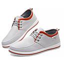hesapli Erkek Sneakerları-Erkek Ayakkabı Kanvas / Keten Sonbahar Günlük Spor Ayakkabısı Günlük için Siyah / Gri / Mavi