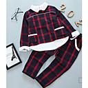 povoljno Kompletići za djevojčice-Djeca Djevojčice Osnovni Jednobojni Dugih rukava Regularna Pamuk / Poliester Komplet odjeće Djetelina 140