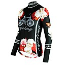 cheap Cycling Jersey & Shorts / Pants Sets-ILPALADINO Women's Long Sleeve Cycling Jersey Black Floral Botanical Bike Top Breathable Quick Dry Ultraviolet Resistant Sports Winter Elastane Mountain Bike MTB Road Bike Cycling Clothing Apparel