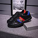 Недорогие Мужские кроссовки-Муж. Комфортная обувь Полиуретан Осень Кеды Белый / Черный
