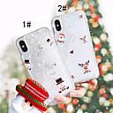 hesapli iPhone Kılıfları-Pouzdro Uyumluluk Apple iPhone XS / iPhone XR / iPhone XS Max Akan Sıvı / Temalı Arka Kapak Noel Sert PC