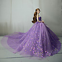 preiswerte Zubehör für Puppen-Kleider Kleid Für Barbiedoll Purpur Tüll / Spitze / Pailetten Kleid Für Mädchen Puppe Spielzeug
